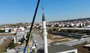 Bolluca'da İsmail Kocatürk Camisinin Minaresi Söküldü