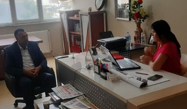 HÜDA PAR Arnavutköy İlçe Bakanı gazetemizi ziyaret etti