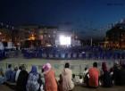 Arnavutköy'de açık hava sinema keyfi