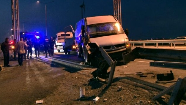 Arnavutköy'de korkunç  kaza