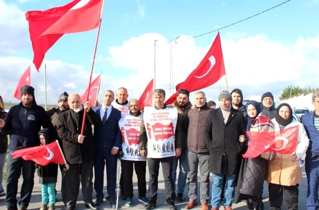 Kanal İstanbul'a destek için yürüdüler