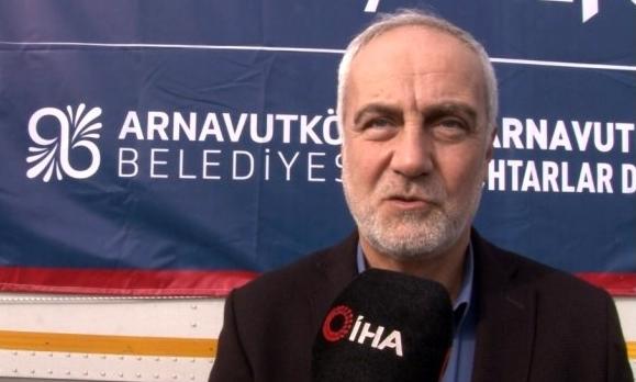 Arnavutköy'den Elazığ'daki depremzedelere yardım